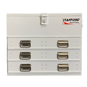 STAFFORD INDUSTRIAL 3 DRAWER WHITE FLAT TOP TOOL BOX