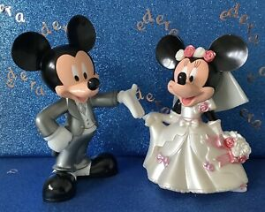DISNEY MICKEY AND MINNIE WEDDING   LARGE CAKE TOPPERS /COLLECTABLE FIGURES 14cm