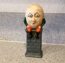 "Vintage Cast Iron ""Humpty Dumpty Sitting On A Wall"" Bank 5 1/2"" Tall"