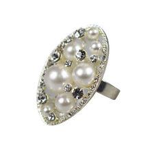 Bigiotteria ovale d'argento di cristallo