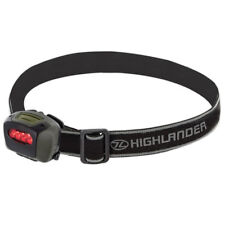 Highlander Mira Camping Work Fishing White LED w/ Red Filter Head Torch Headlamp