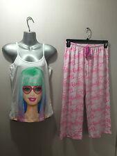 BNWT Ladies/Teenage Girl Sz 16/18 Cute Barbie Print Stretch Summer Style Pyjamas