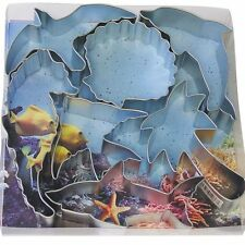 R & M Steel Sea Life Theme Cookie Cutter, 7 Pieces - 1878
