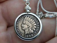 Pendant  Necklace  full liberty Indian penny coin nice gift motorcycle biker