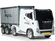Kinder Elektro Auto 4x4 XL LKW / Truck mit Anhänger, EVA, Leder etc.! Neu & Ovp!