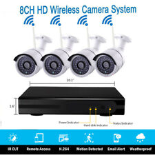 8CH HDMI/VGA NVR Indoor/Outdoor IR Night Vision WIFI Camera Home Security System