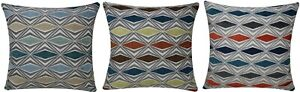 Cushion Covers Geometric Print Abstract Plush Square Pillowcase Couch 18 Inches