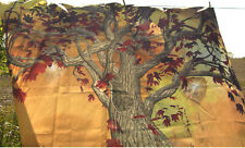 Oak Tree Woods W / White Butterfly Shower Curtain Polyester Unlined NEW