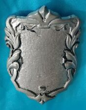 Vintage Renaissance Faire Molded or Pressed Pewter ? Metal Shield Badge