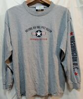 Men's Size L L/S Tee 'Smithsonian' Graphic 100% Cotton Shirt In Good Condition