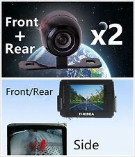 Car 170° Wide Angle Front/Side+Rear View Backup Reversing Camera Kits Universal