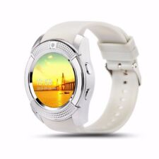 Luxus SmartWatch V8 WEIß Bluetooth Uhr iOS Android Samsung iPhone SIM Kamera LG