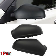 2Pcs Door Side Wing Mirror Cover Casing For Saturn Astra 2008-2009 Matte Black