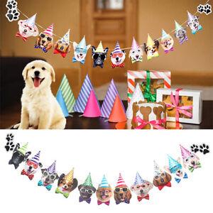 Dog Decor Banner Bunting Garland Banner Pet Party Decor Pet Birthday FlagPTUK