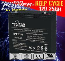 Neuton Power NPD12250 12V 25Ah AGM Deep Cycle Battery >17Ah 18Ah 20Ah 22Ah