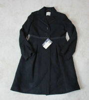 NEW Henry Cottons Trench Coat Womens Large Size 10 EUR 44 Black Wool $515
