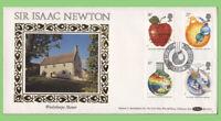 G.B. 1987 Isaac Newton set  Benham First Day Cover, Woolsthorpe, Lincs