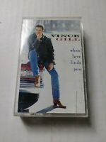 VINCE GILL When Love Finds You Cassette Tape 1994 Country