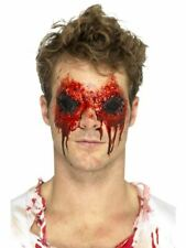 Gory Wounds Prosthetic Halloween Scars Latex Horror Fancy Dress Make Up Eyes