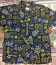 Men's Large Charcoal Hawaiian Button-Down Shirt - New w/Tags