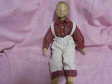 unmarked delfi raikes ? wood carved boy doll 17 inches