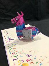 Pink Llama 3D Pop Up Card Animal Birthday Anniversary Love Greeting Card