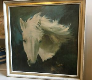 """Retro Vintage Print """"WHITE BEAUTY"""" by Frank Wootton  Original Frame Boots"""