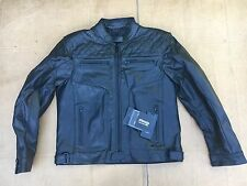 "RKS Mens Classic Leather Motorcycle / Motorbike Jacket UK 46""- 48"" chest (B27)"