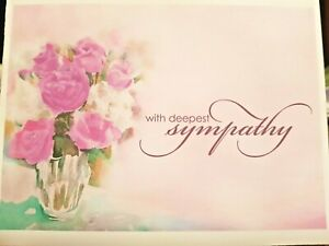 "KITTY'S NOTE CARDS - Set of 10 + Envelopes - ""Watercolor Roses Sympathy"""