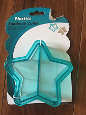 NEW plastic SANDWICH PANCAKES COOKIE CUTTERS shapers crust STAR lot KIDS LUNCH