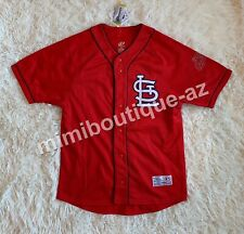 St. Louis Cardinals Men's MLB Jersey Red Navy Baseball Top Authentic Apparel NEW