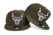 newest b302b 85ca0 New Era Brown - White Chicago Bulls snapback hat