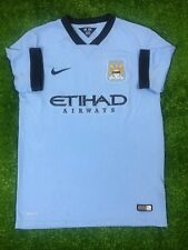 MANCHESTER CITY 2014/2015 HOME FOOTBALL SOCCER CAMISETA JERSEY BOYS NIKE SIZE L