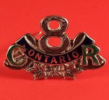 WW1 Ont. Central 8th Battalion Sweet Heart Pin Brooch Sterling Silver 31 x 20 mm