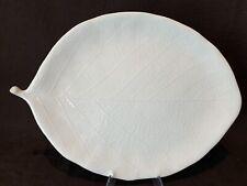 "Michael Aram White Porcelain Ceramic Leaf Serving Platter 15 3/4"" L READ"