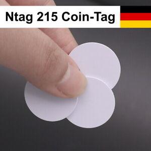 1-40 Stück: Ntag215 (wie Amiibo) 540 Byte - NFC Coin Tag, 10 Android, TagMo, iOS