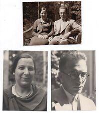 3 PHOTOS ANCIENNES PHOTO Couple Amoureux Lover Portrait Aimer Amant Vers 1930