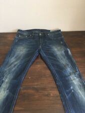 DIESEL Jeans Mens THANAZ W33 L32 Designer Denim Dark Skinny Italian 0887K 887K