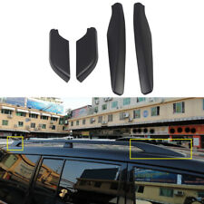 4* Black Roof Rack Bar End Cover Shell  For Mitsubishi Pajero / Shogun V80 07-18