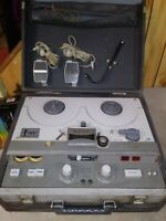 Sony Stereocorder Reel to Reel Vintage Tape Recorder Complete w/ Case Superscope
