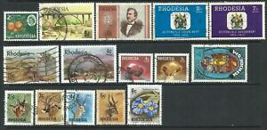 Rhodesia Small Collection of 15 Good Used Stamps