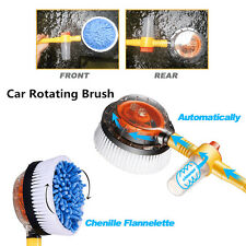 1x Car Hydraulic Rotary Wash Brush Sponge Adjustable Pipe for Car Wash Cleaning
