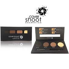Covershoot Cosmetics 3 Colour Eyebrow Brow Set Kit Powder Primer Palette Tweezer