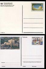 UN Vienna . 1992-93 Postal Cards (2) . UX5-6 . Mint