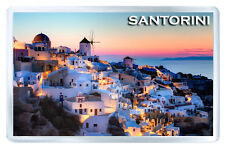 SANTORINI GREECE MOD2 FRIDGE MAGNET SOUVENIR IMAN NEVERA