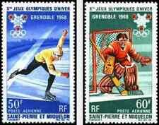 Timbres Sports d'hiver JO St Pierre et Miquelon PA40/1 * lot 8815