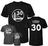 Golden State Warriors Stephen Curry White Logo Jersey Men's T Shirt