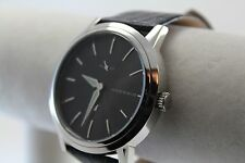 Android Men's Dress Watch, Model AD807, SS on Black Leather Strap