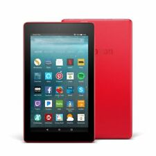 Amazon Kindle Fire 7th Gen 2017 Model 8GB 7in Tablet Punch Red with AU Adapter