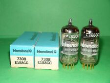 Matched Pair IEC E188CC 7308 Gold Pins Vacuum Tubes Strong & Balanced USA
